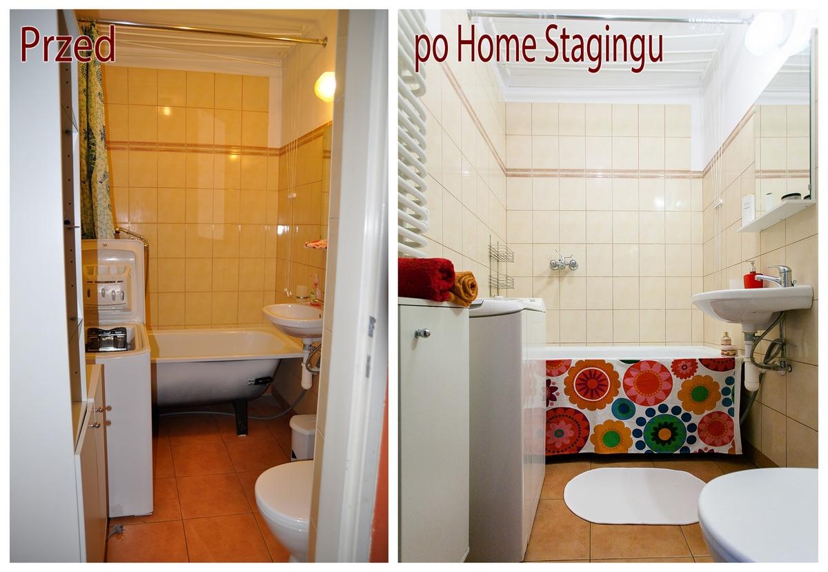 Turniejowa łazienka po home stagingu
