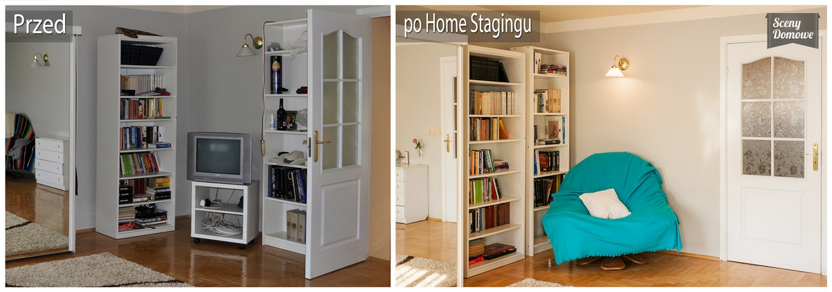 home staging w sypialni