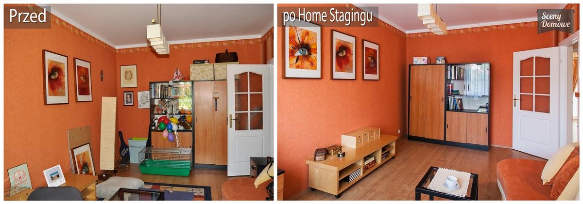 Przed i po w home stagingu