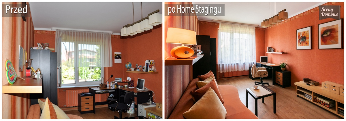 home staging w pokoju