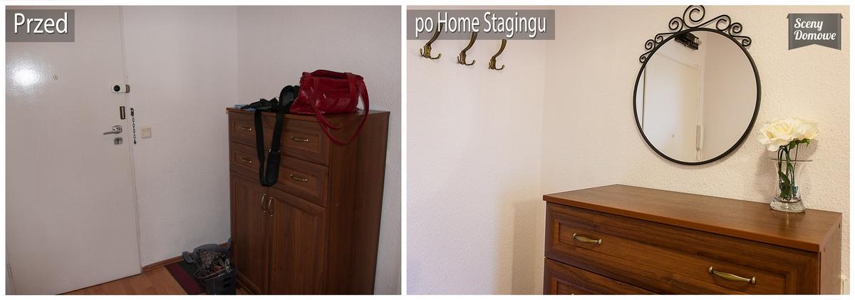 home staging przedpokoju