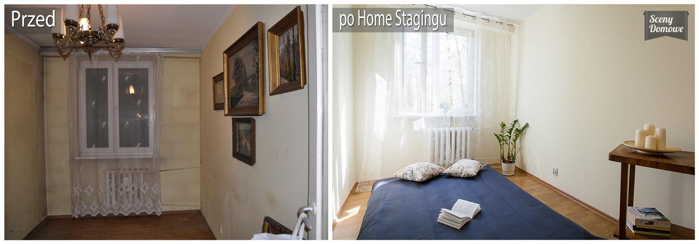 sypialnia, home staging, Kraków